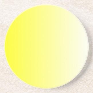 Yellow to White Gradient Coaster