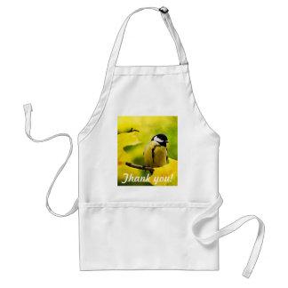 Yellow tomtit in golden autumn standard apron