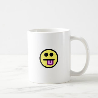 Yellow Tongue Out Smiley Face Coffee Mug