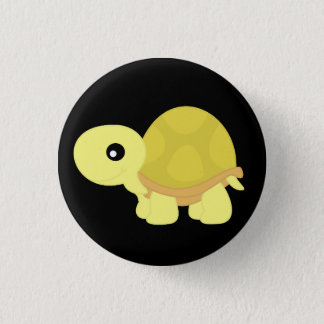 Yellow Tortoise 1 Inch Round Button