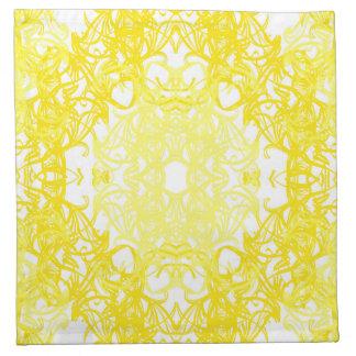 yellow towel napkin
