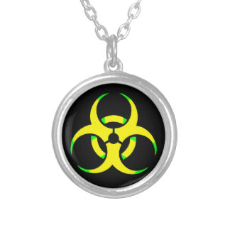Yellow toxic silver plated necklace