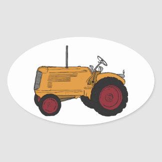 Yellow Tractor Sticker