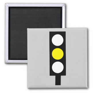 Yellow traffic light magnet