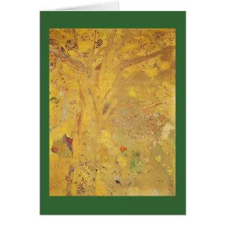 Yellow Tree by Odilon Redon Card