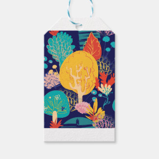 yellow tree gift tags