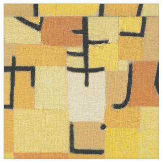 """Yellow Tree"" Paul Klee Inspired Fabric"