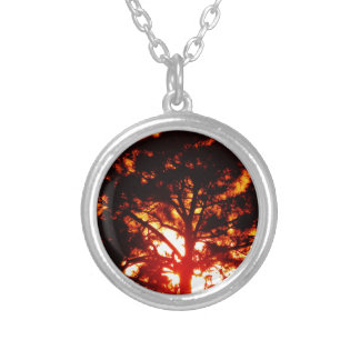 Yellow Tree Silver Plated Necklace