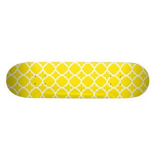 Yellow Trellis Design Skate Board Deck