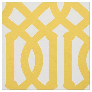 Yellow Trellis Large Scale Fabric