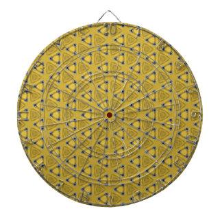 Yellow Triangular Pattern Dartboard