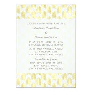 Yellow Tribal Arrows Wedding Invite