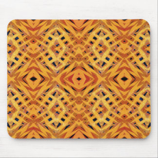 Yellow tribal shapes pattern mouse pad