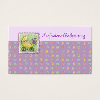 Yellow Trolley Babysitting Purple Card
