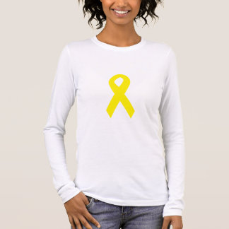 Yellow Troops Ribbon Long Sleeve T-Shirt