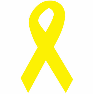 Yellow Troops Ribbon Photo Sculpture Keychain