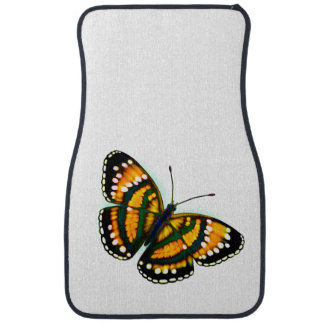 Yellow Tropical Butterfly Auto Floor Mats