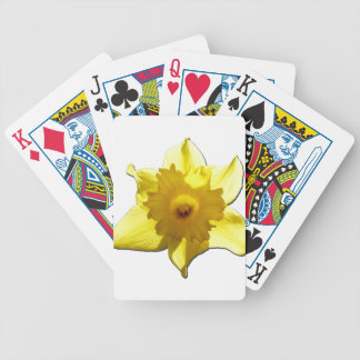 Yellow Trumpet Daffodil 1.0 Bicycle Playing Cards