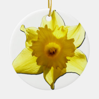 Yellow Trumpet Daffodil 1.0 Ceramic Ornament