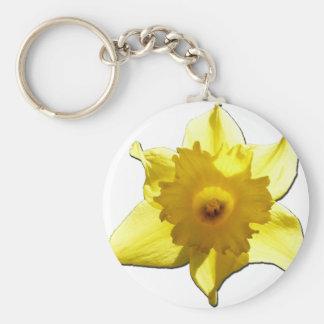 Yellow Trumpet Daffodil 1.0 Keychain