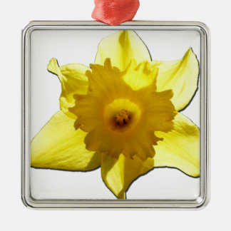 Yellow Trumpet Daffodil 1.0 Metal Ornament