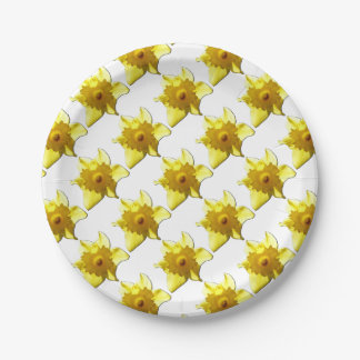 Yellow Trumpet Daffodil 1.0 Paper Plate
