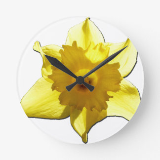 Yellow Trumpet Daffodil 1.0 Round Clock