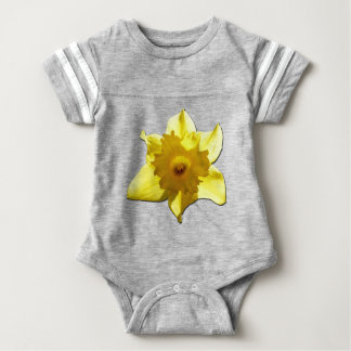 Yellow Trumpet Daffodil 1.5.5.b Baby Bodysuit