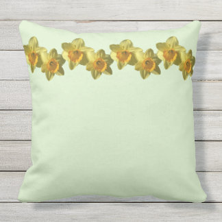 Yellow Trumpet Daffodil 4.2 Throw Pillow