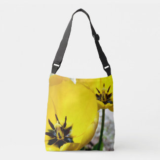 Yellow Tulip All Over Print Cross Body Bag