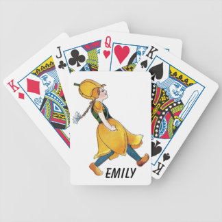 Yellow Tulip Cute Flower Child Floral Funny Girl Bicycle Playing Cards