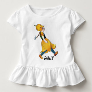 Yellow Tulip Cute Flower Child Floral Funny Girl Toddler T-shirt