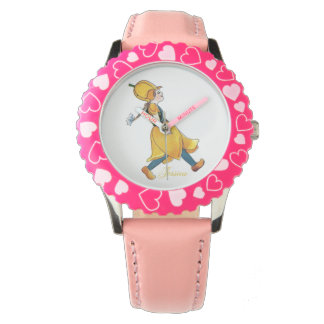 Yellow Tulip Cute Flower Child Floral Funny Girl Watch