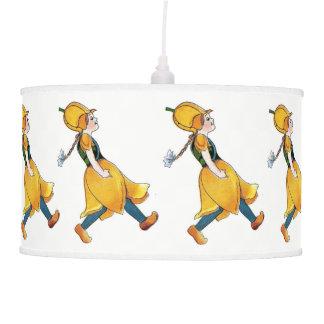 Yellow Tulip Cute Flower Child Floral Nursery Lamp