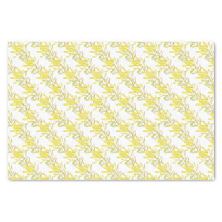 Yellow tulip leucadendron watercolor tissue tissue paper