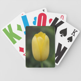 Yellow Tulip - Low-vision playing cards