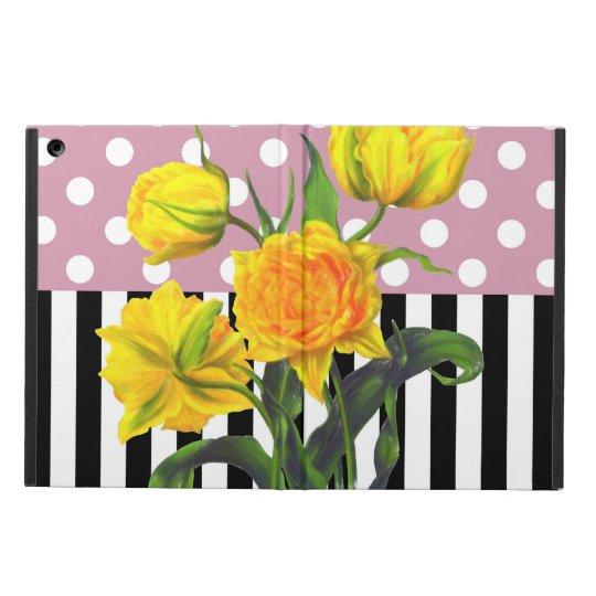 yellow tulip polka dot iPad air case