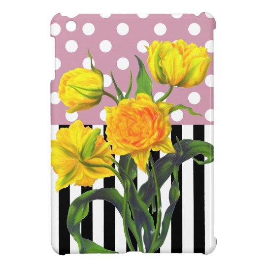 yellow tulip polka dot pattern case for the iPad mini