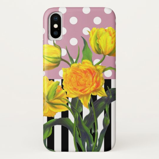 yellow tulip polka dot pattern galaxy nexus case
