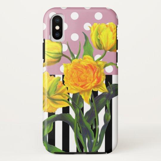 yellow tulip polka dot pattern HTC vivid / raider 4G cover
