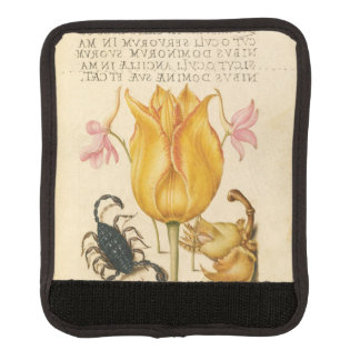 yellow tulip scorpio luggage handle wrap