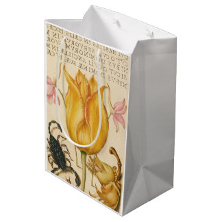 yellow tulip scorpio medium gift bag