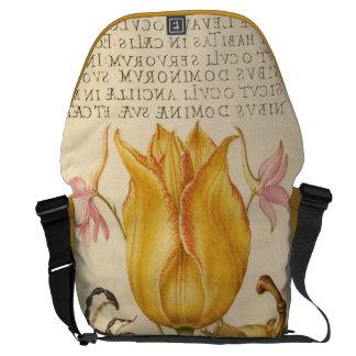 yellow tulip scorpio messenger bag