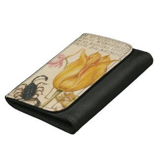 yellow tulip scorpio wallet for women