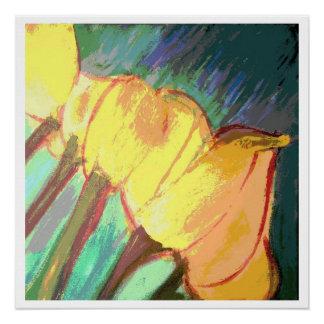 Yellow tulips - 20 x 20 glossy print