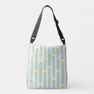 Yellow tulips crossbody bag
