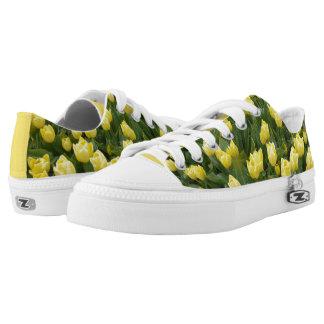 Yellow Tulips Field Zipz Low Top Shoes