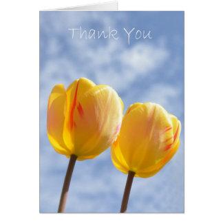 Yellow Tulips in the sky Card