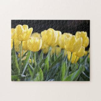 Yellow Tulips Jigsaw Puzzle