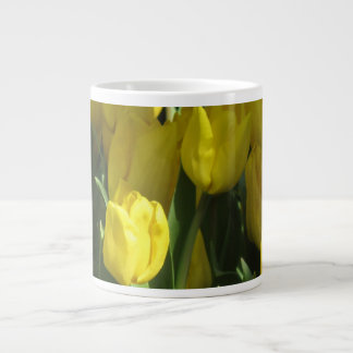 Yellow tulips large coffee mug